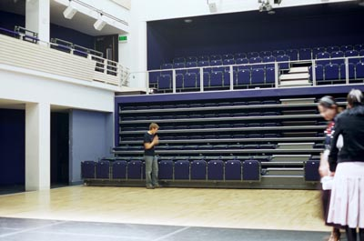 untitled / installation with a theater hall / Nottingham dance festival, 2004